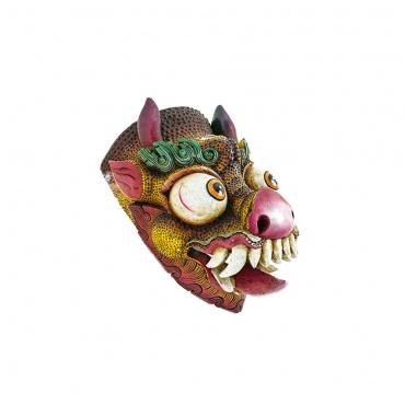 dragon tibétain masque peinture relief