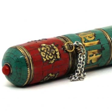 range encens étui carquois pour encens tibétaine