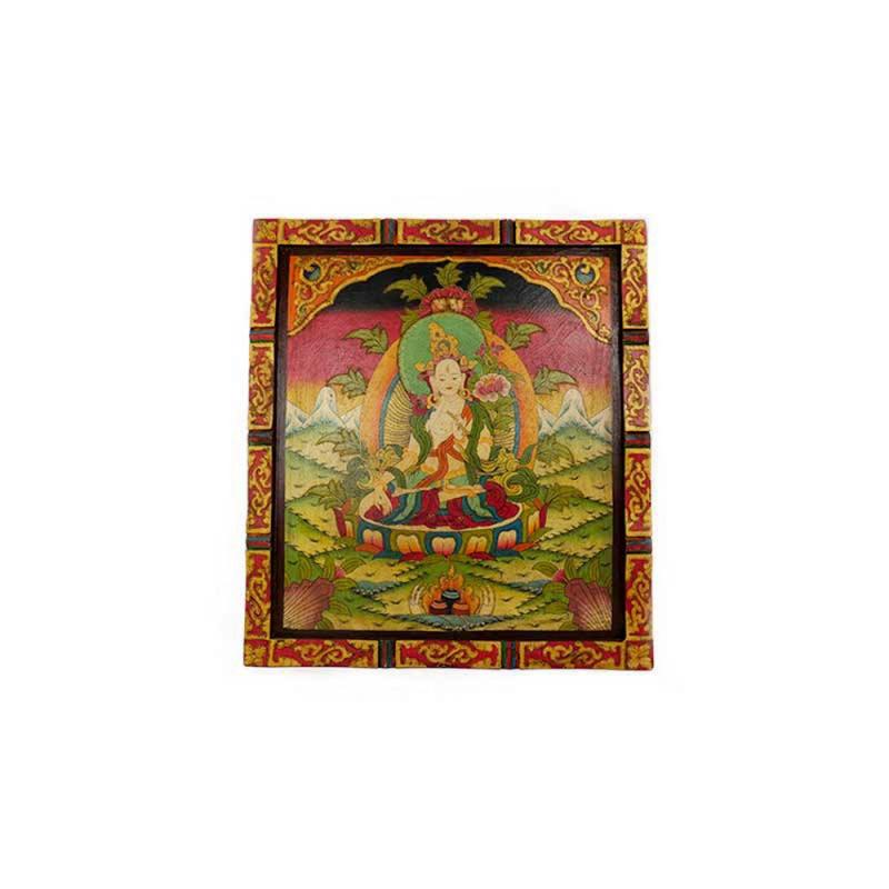 tableau de Tara blanche peinture bouddhiste tibétaine