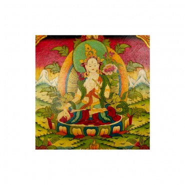 tableau bouddha féminin tara blanche bouddhisme tibétain