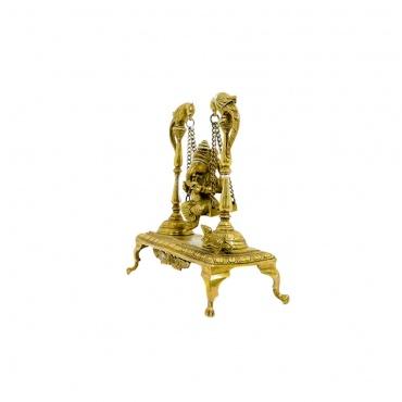 statue de ganesh en métal original Népal indou