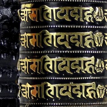moulin prières bouddhiste tibétain toit du monde