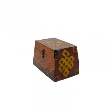 petite malle tibétaine coffret tigre joyau nœud d'éternité