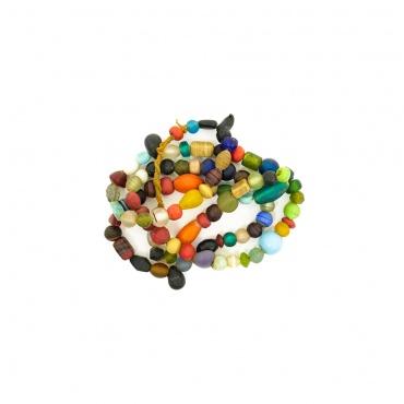 collier en perles de verre colorées nagaland toit du monde