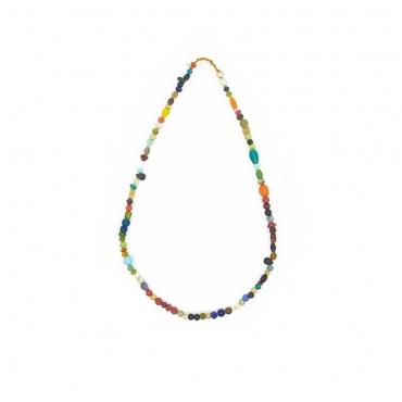 collier en perles de verre Inde Népal pour rehausser une tenue