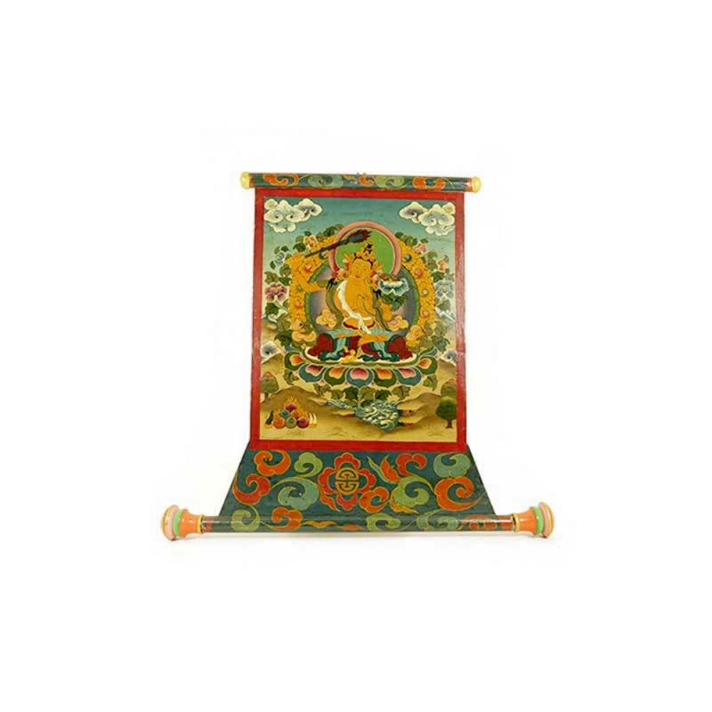 tableau peinture bouddhiste de manjushri manjushree la connaissance