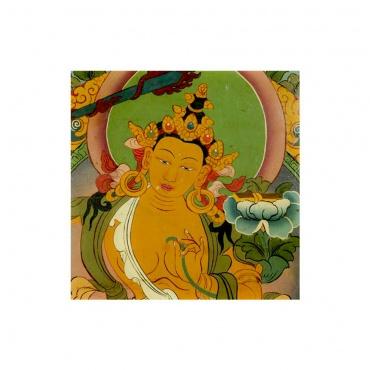 tableau bouddhiste tibétain bodhisattva manjushri