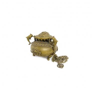 encensoir vase aux trésors et poisson d'or