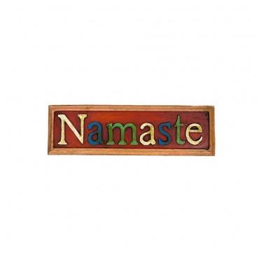 namaste soyez béni  en bois népal inde