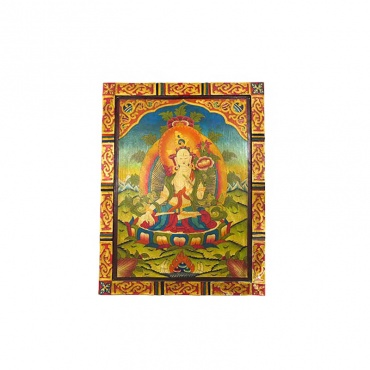 tableau tangka peinture bouddhiste tara blanche