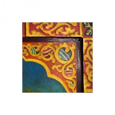 détail tableau tara blanche bouddha féminin