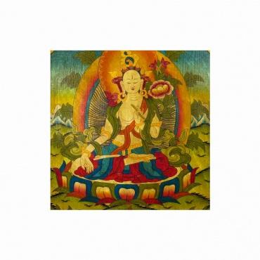 tableau bouddha tara blanche divinité bouddhiste tibétain