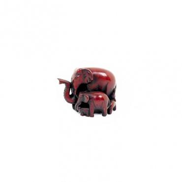 élephant ganesh en résine rouge