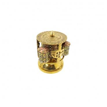 moulin prière tibétain pour table autel en laiton