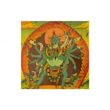 tableau en bois chakrasamvara  bouddhiste