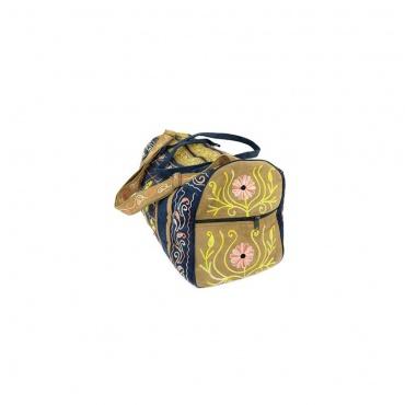 sac de voyage tissu imitation cuir avec divers poches