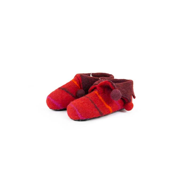 chausson pantoufles fille ou garçon rouge taille 30