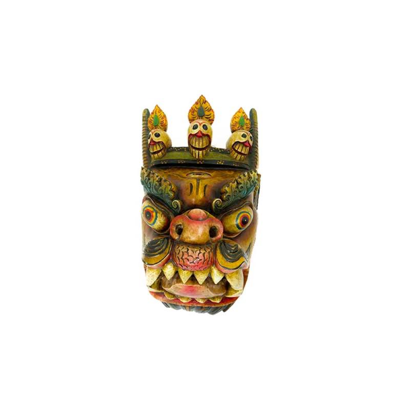 grand masque de dragon peint tibétain chinois