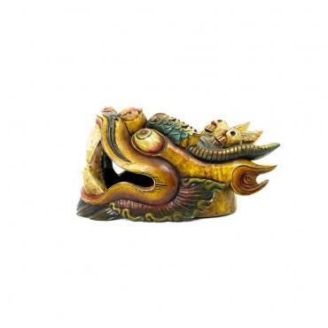 grand masque en bois dragon tibétain chinois