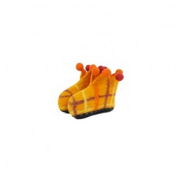 petits chaussons pour bébé en laine feutrée taille 18
