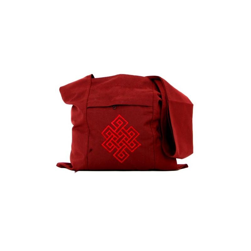 sac de moine rouge tibétain bouddhiste