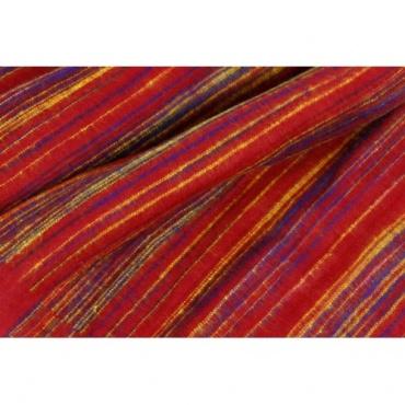 couverture laine vegan rouge violet jaune safran