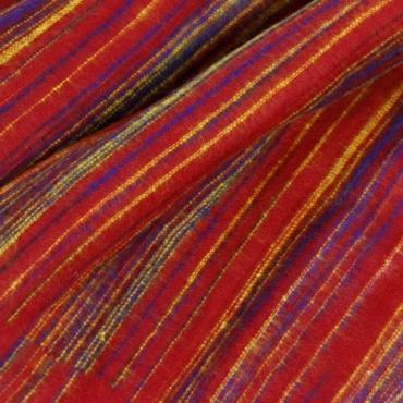 couverture de méditation rouge violet jaune safran