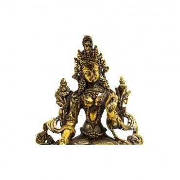 statue de tara blanche compassion- 7 yeux - 14 cm -