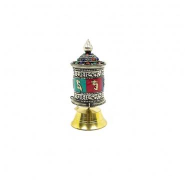 moulin de prières tibétaines pour déposer sur un autel