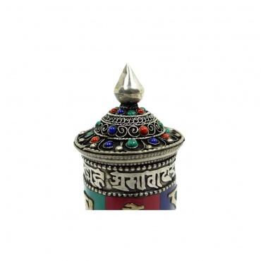 petit moulin à prières finement décoré