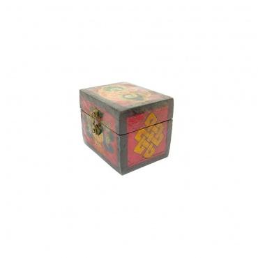 boite à bijoux vase aux trésors bouddhiste tibétain