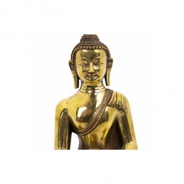 buste d'une statue du bouddha mudra du don et bol