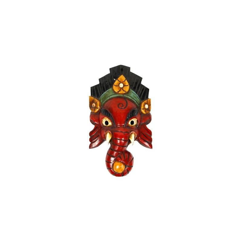 masque de ganesh rouge