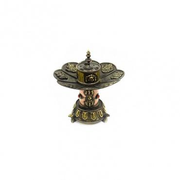 porte-encens brûle encens bouddhiste en cuivre