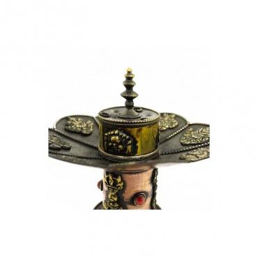 porte-encens stupa signes auspicieux bouddhistes