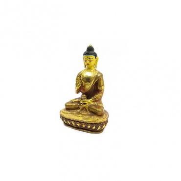 statue de protection bouddha or et cuivre