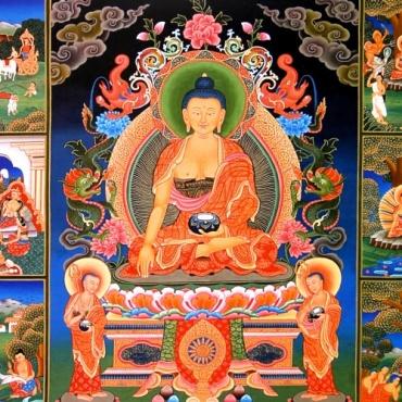 Affiche poster vie de bouddha grand format