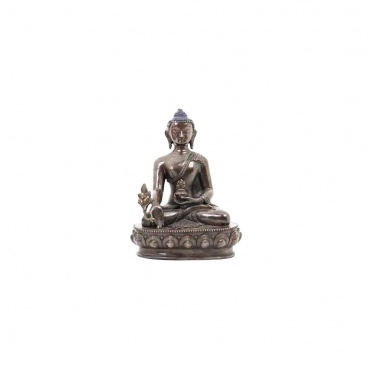 statue bouddhiste bouddha médecine Sangye Menla en cuivre