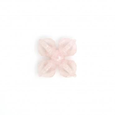 Dorje ou vajra croisé en quartz rose