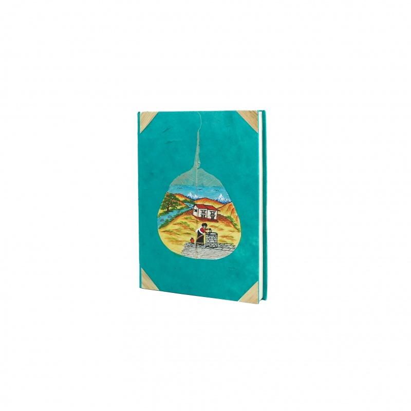 Carnet turquoise pour écrire ses mémoires