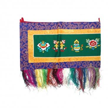 Broderie tibétaine 8 signes auspicieux