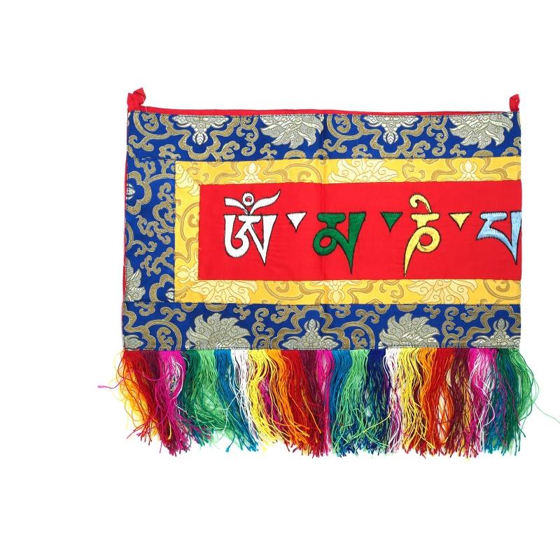 Broderie tibétaine tashi holy mantra