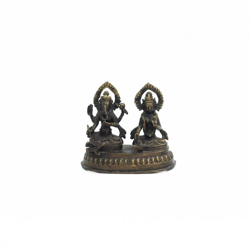 Statue de Ganesh et Parvati