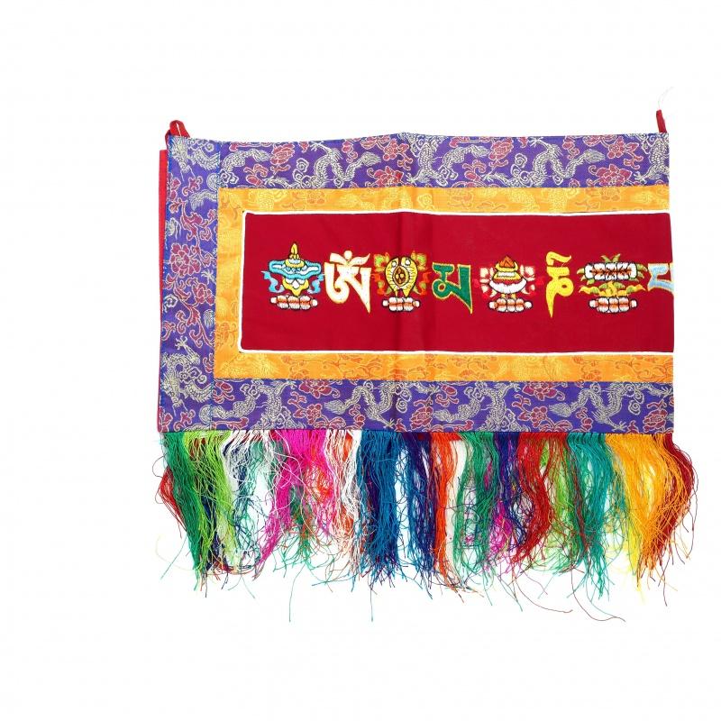 broderie bouddhiste tibétaine porte-bonheur protection et Mantra