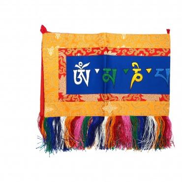 Broderie tibétaine tashi holy mani mantra