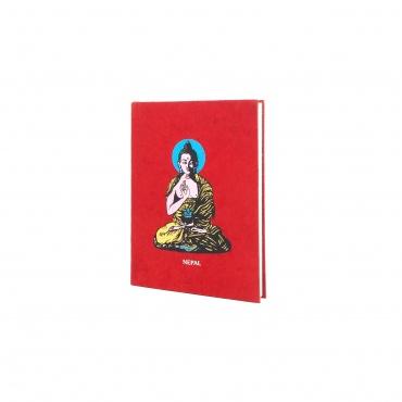 arnet Papier Lokta rouge et Bouddha