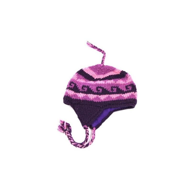 Bonnet oreille violet