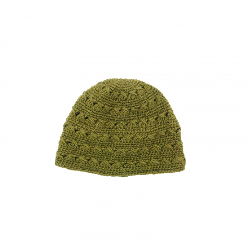 Bonnet mode vert en laine