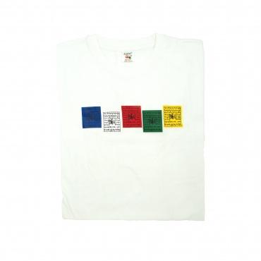 Tee-shirt blanc drapeaux de prières
