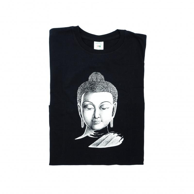 Tee-shirt noir tête de bouddha